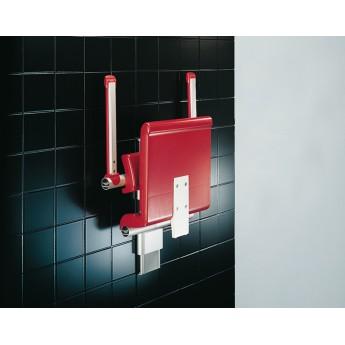 Asiento de ducha abatible de altura regulable con respaldo y brazos R7151