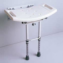 Asiento de ducha abatible con patas AD538D