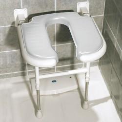 Asiento de ducha abatible forma de 'U' con patas AD531